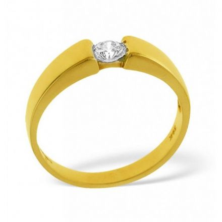 18K Gold 0.25ct Diamond Solitaire Ring, SR06-25PKY